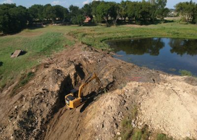 image of excavating pond