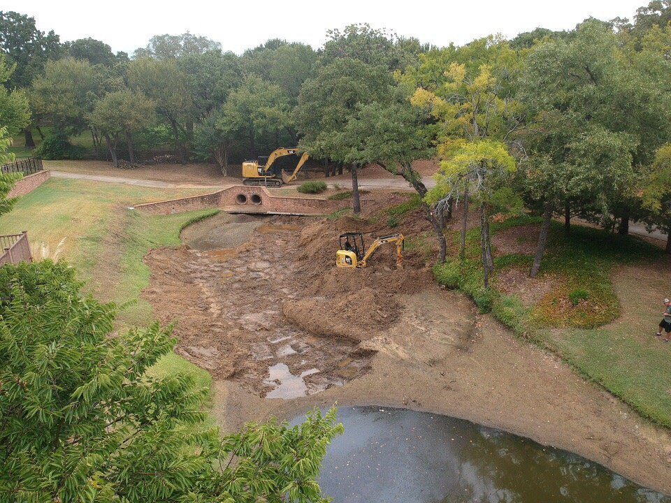 pond excavation in Fort Worth, TX