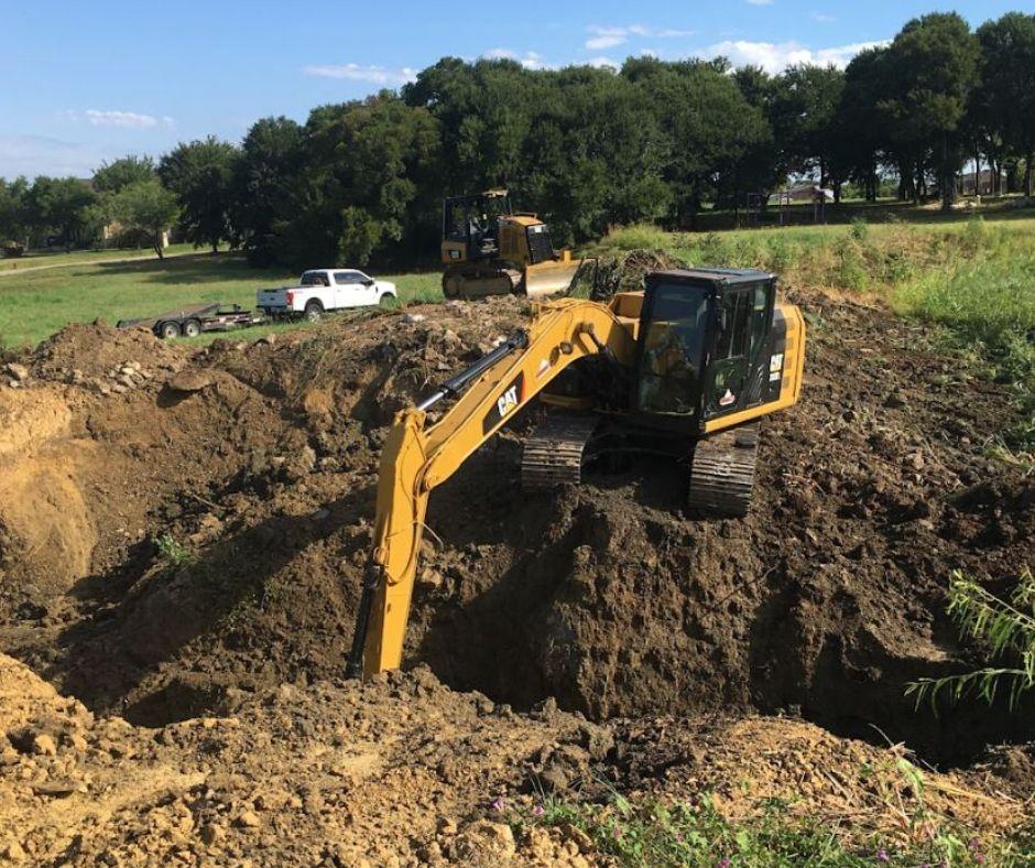 Excavation Worx excavator pond construction image