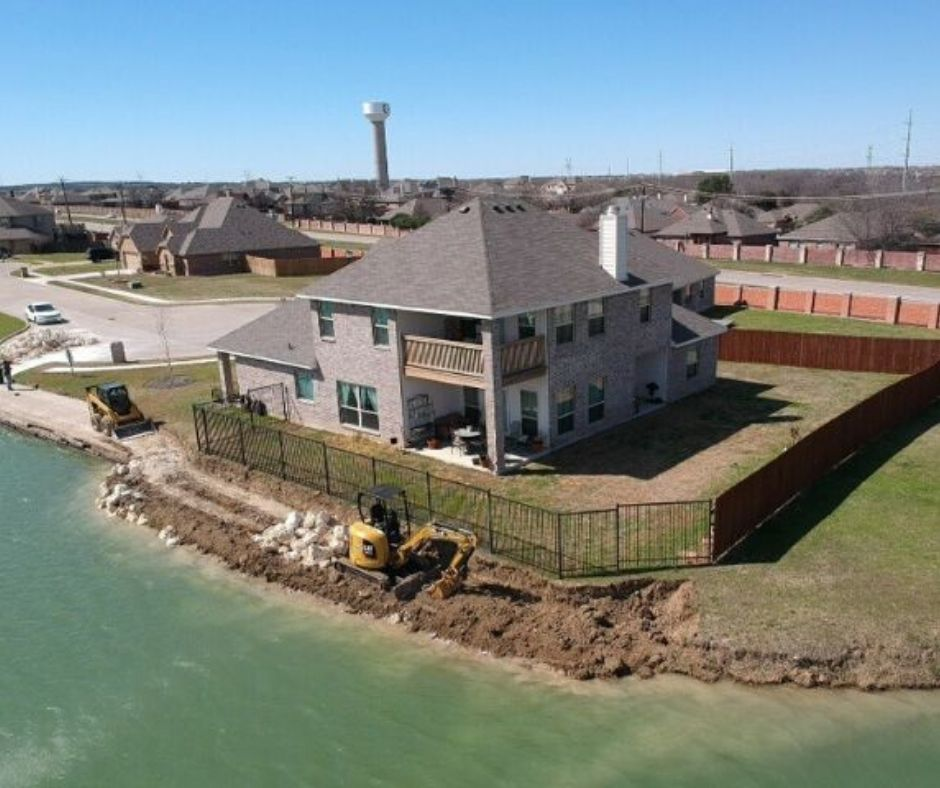 erosion control in the Fort Worth area 2