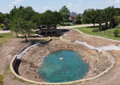 Residential Pond Construction in Fort Worth TX image