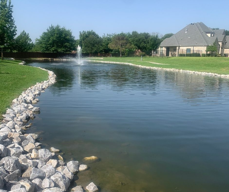 community pond in north richland hills tx image