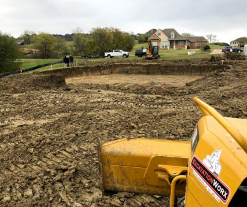 Pond construction in DFW image